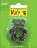 Makins clay uitsteekvorm Teddy Bear 3 PC Set - #172113