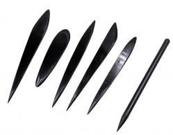 Zwarte Modeleerset spatels - 6 stuks - #266736